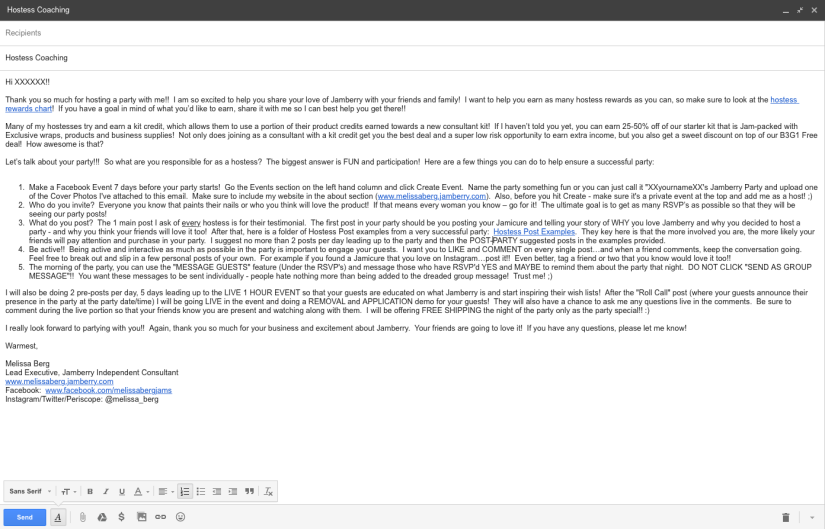 Hostess Coaching Email Example.png